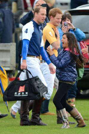 Prince William, Prince Harry, British Royals at Beaufort Polo Club, Gloucestershire, Britain