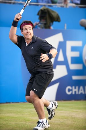 Michael McIntyre takes part in Rally Against Cancer at the Queen's Club, London