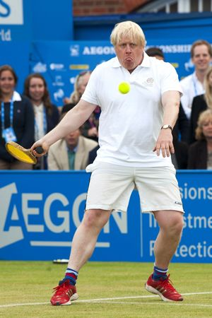 Boris Johnson takes part in Rally Against Cancer at the Queen's Club, London