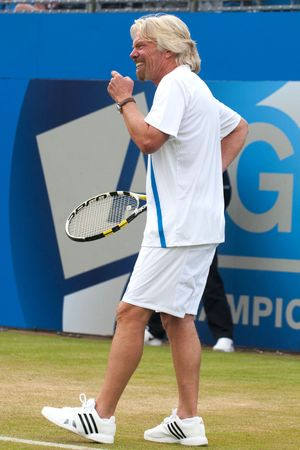 Sir Richard Branson takes part in Rally Against Cancer at the Queen's Club, London