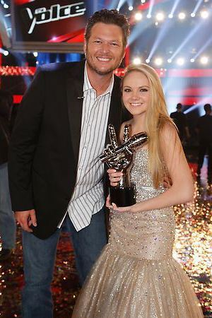 Danielle Bradbery and coach Blake Shelton