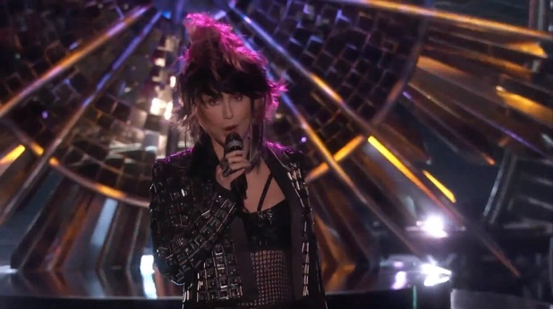 Cher performs 'Woman's World' on 'The Voice' US.