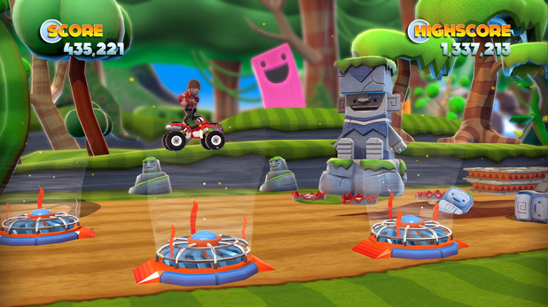 Team Fortress 2 characters in 'Joe Danger' on PC
