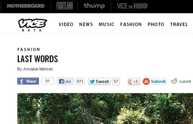 Vice Last Words feature