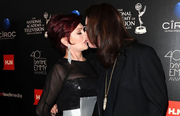 Sharon Osbourne and Ozzy Osbourne arriving at the 40th Annual Daytime Emmy Awards