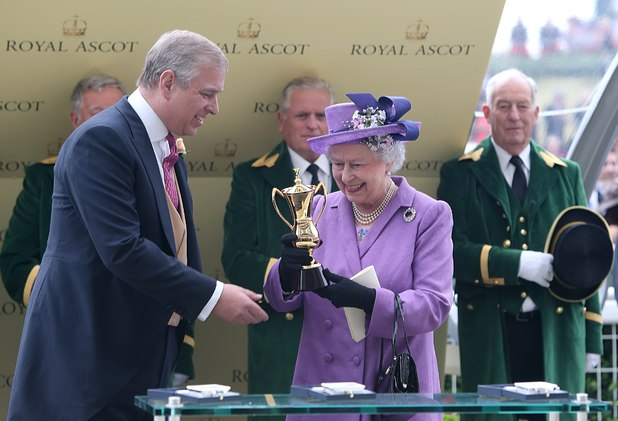 Prince Andrew gives the Queen the Gold Cup at Royal Ascot ~~~ June 20, 2013