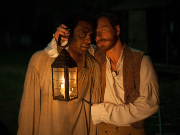 Solomon Northup (Chiwetel Ejiofor) and the cruel planter Edwin Epps (Michael Fassbender) in '12 Years A Slave'