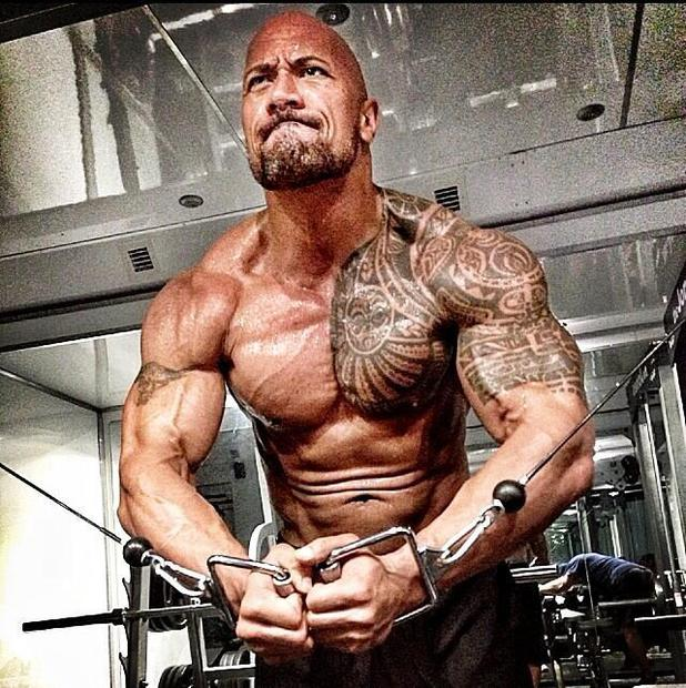 Dwayne Johnson shows off bulging muscles in 'Hercules