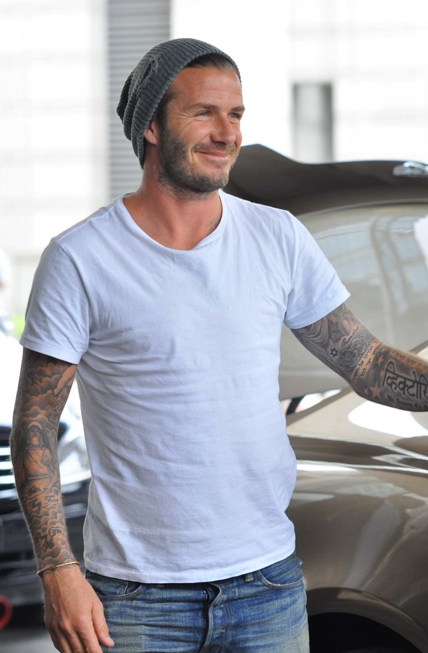 David Beckham,  arrives in Beijing to start a tour of China in his role as the image ambassador for the Chinese Football Assosication Super League. It's been three months since his last tour in the country.