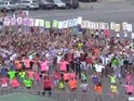 The video of the middle school dancing has had over 130,000 views on YouTube.