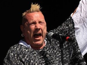 John Lydon performing on the Other Stage at the Glastonbury Festival
