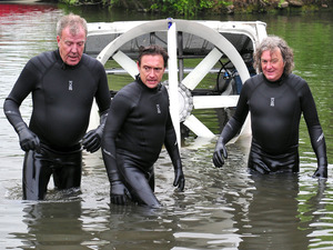 Jeremy Clarkson, Richard Hammond & James May analysing their Hovervan in Top Gear
