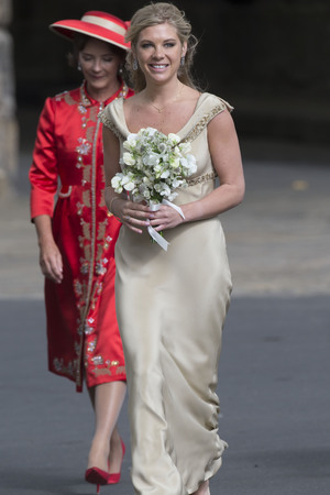 Chelsy Davey, wedding of Lady Melissa Percy and Thomas van Straubenzee, St Mary's Church, Alnwick, Northumberland