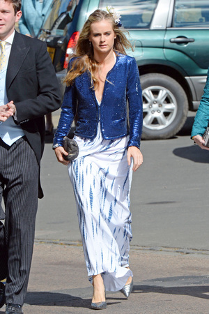 Cressida Bonas, wedding of Lady Melissa Percy and Thomas van Straubenzee, St Mary's Church, Alnwick, Northumberland