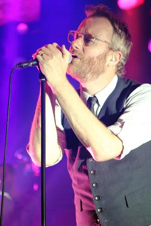 Matt Berninger of The National on stage at London's Roundhouse ~~ June 26, 2013