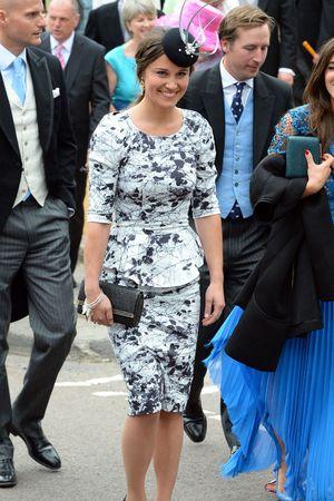 Pippa Middleton, wedding of Lady Melissa Percy and Thomas van Straubenzee, St Mary's Church, Alnwick, Northumberland