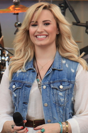 Demi Lovato performs live on ABC's 'Good Morning America' at Rumsey Playfield in Central Park