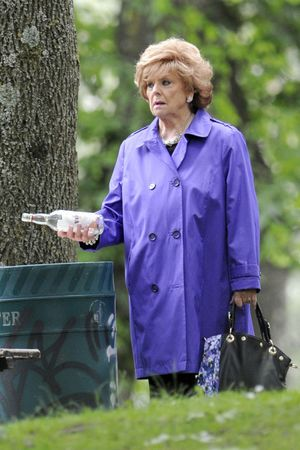 Barbara Knox filming as Rita Sullivan