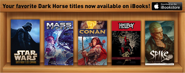 Dark Horse Comics selection in the iBookstore