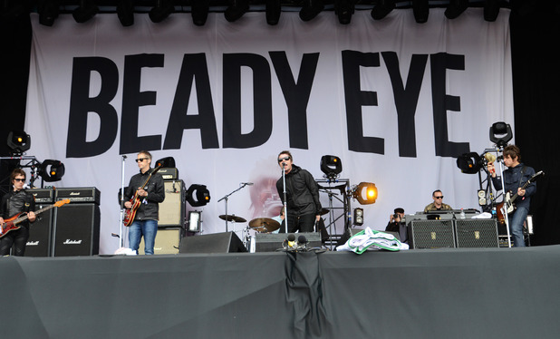 Liam Gallagher performs with Beady Eye