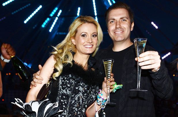 Holly Madison and Pasquale Rotella pose for photos