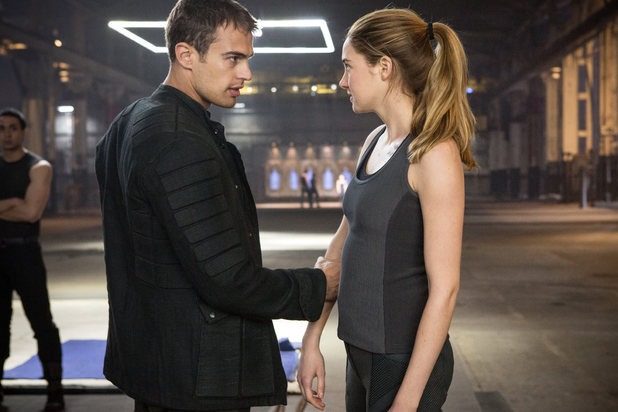 Shailene Woodley and Theo James in 'Divergent'