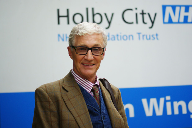 Paul O'Grady on set at Holby City