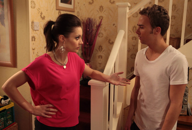 Frustrated by his behaviour, Kylie tackles David, wanting to know what's going on