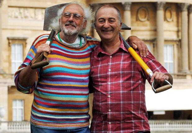 Mick Aston with Tony Robinson