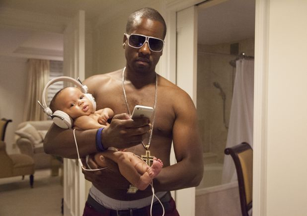 Kanye West lookalike, spoof baby pictures