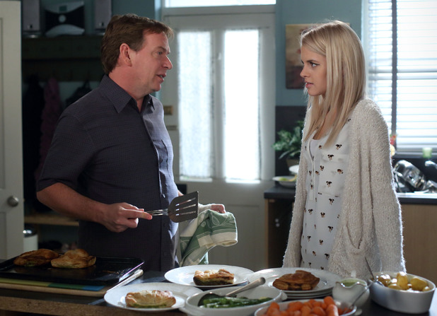 Ian asks Lucy for a loan.