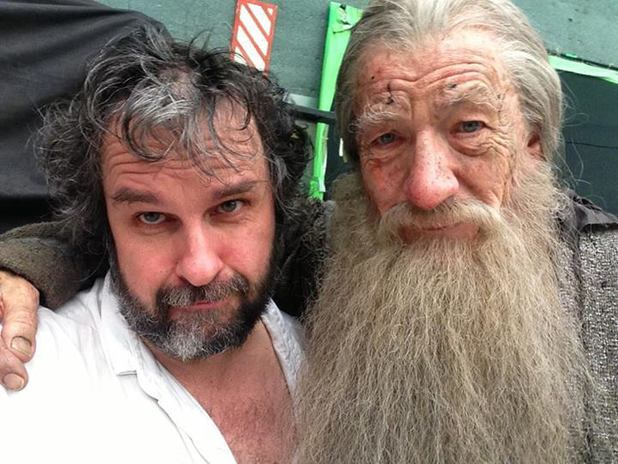 Peter Jackson and Sir Ian McKellen as Gandalf