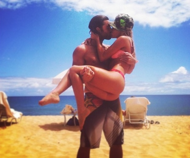 Brody Jenner and Bryana Holly kiss