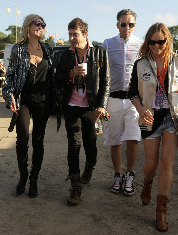 Kate Moss, Jamie Hince, Alasdhair Willis and Stella McCartney.