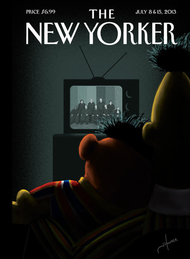 Bert & Ernie on the cover of 'The New Yorker'