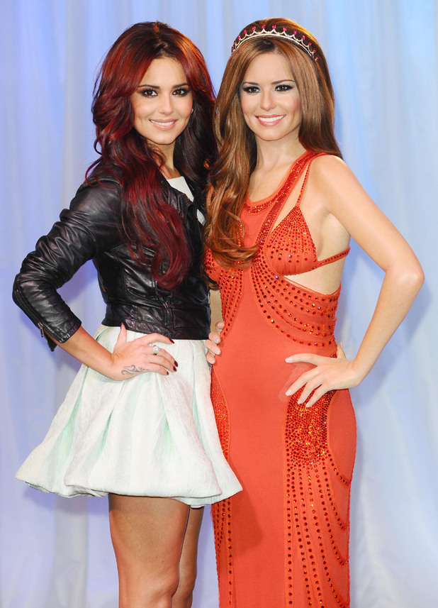 Cheryl Cole unveils her waxwork at Madame Tussauds in London.