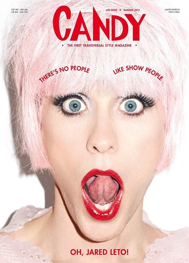 Jared Leto dresses in drag for Candy Magazine