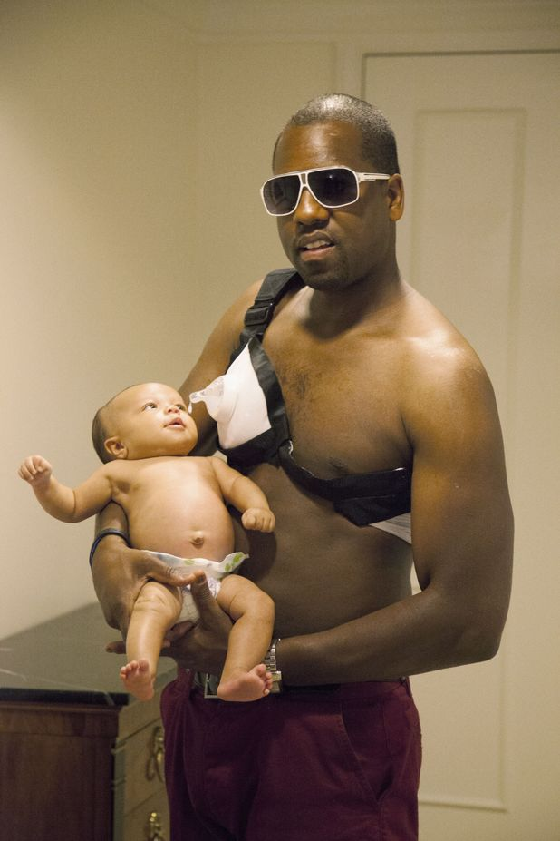 Kim Kardashian and Kanye West spoof baby pictures by Alison Jackson