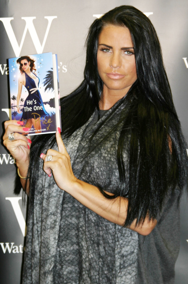 Katie Price signs copies of her new book 'He's the One' at Waterstones in Grimsby