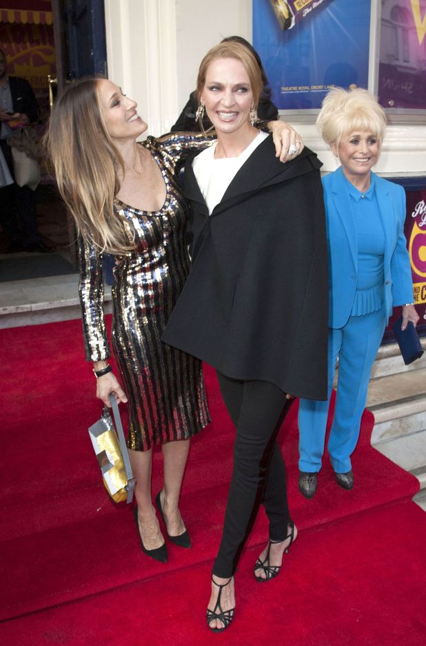 Sarah Jessica Parker, Uma Thurman and Barbara Windsor