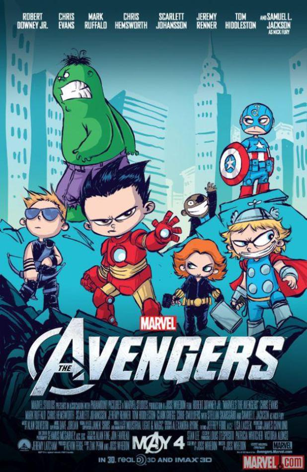 Skottie Young Avengers Comic-Con poster