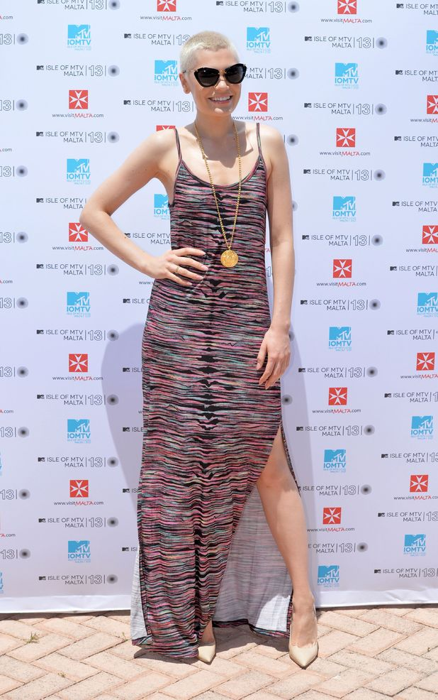 Jessie J, maxi dress, Isle of MTV press conference, Valletta, Malta