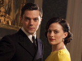 Dominic Cooper and Lara Pulver in Sky Atlantic's 'Fleming'.