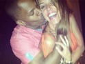 Cristy Rice shares an image of Jamie Foxx playfully kissing her on Instagram.