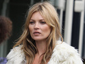 Kate Moss gets body double for commercial shoot in London - pictures