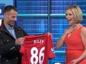 Manchester United fan Rachel Riley gets a surprise on the Channel 4 show.