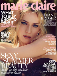 Diane Kruger on the cover of Marie Claire magazine