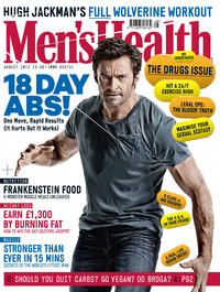 Hugh Jackman's on the cover of Men's Health