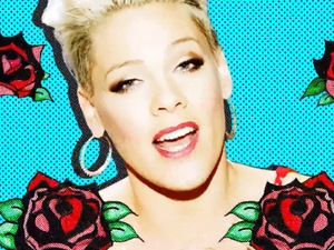 Pink 'True Love' video still.