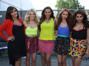 The Saturdays appear at the British Summertime concert.